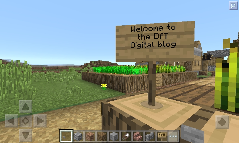 CGI sign saying welcome to the dft digital blog