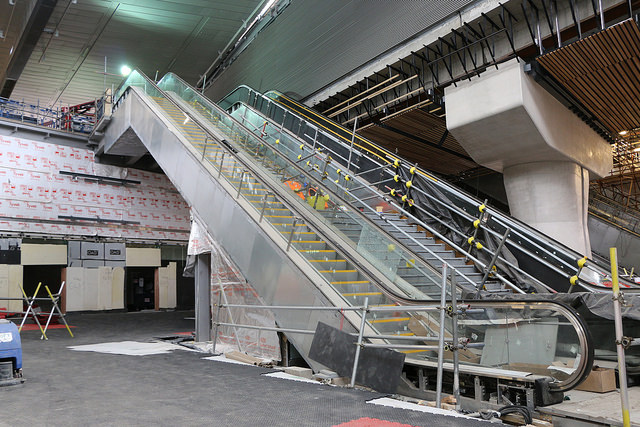escalator at London Bridge station during rebuild