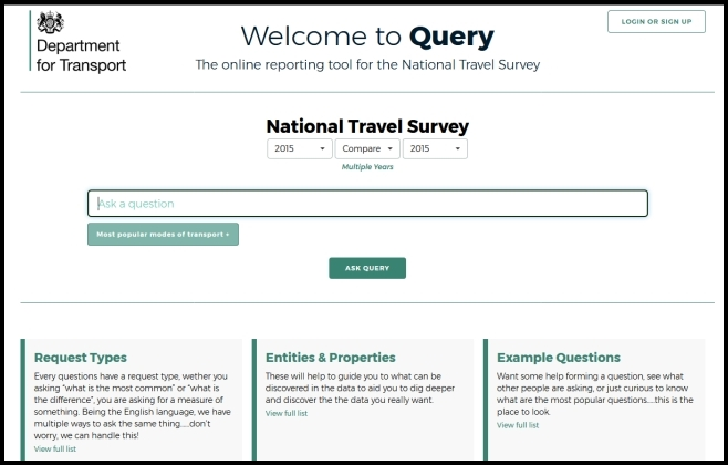 screenshot of online tool called Query