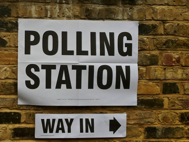 poster advertising polling station