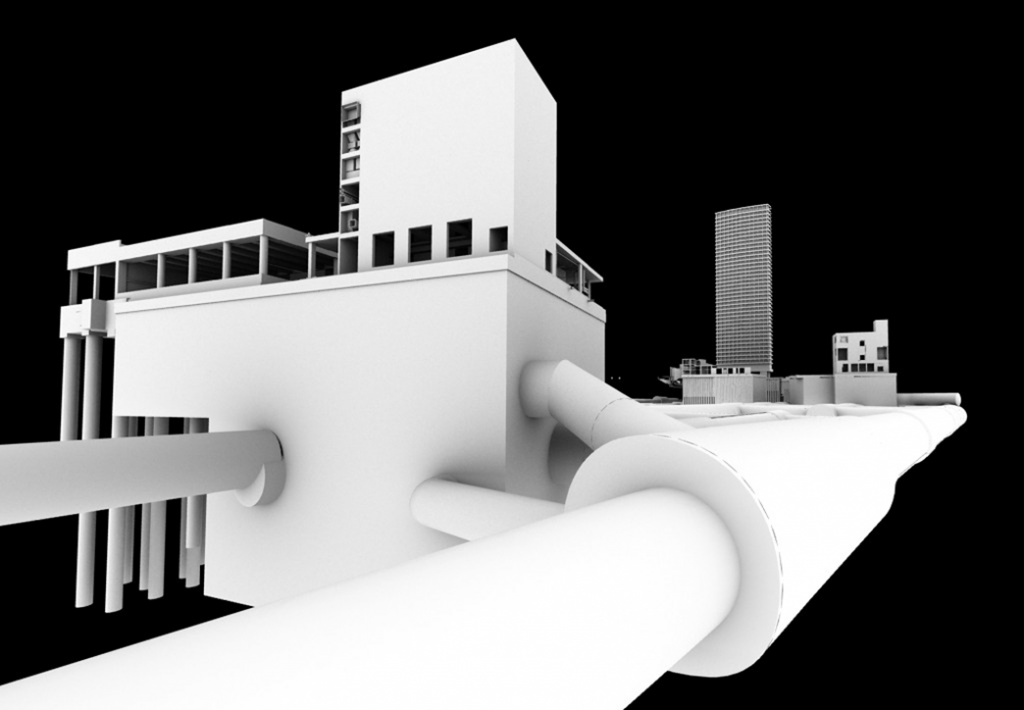 3d representation of part of Tottenham Court Road station