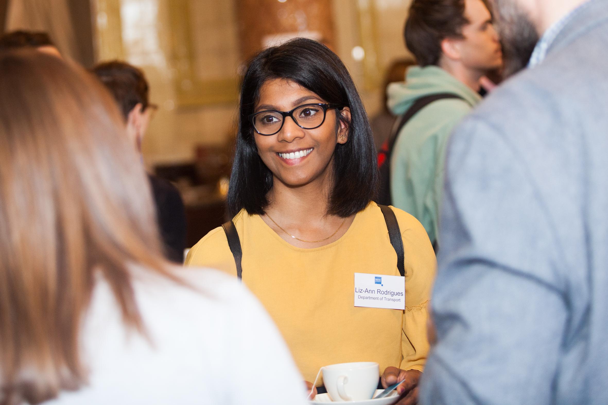 Liz-Ann networking at an event