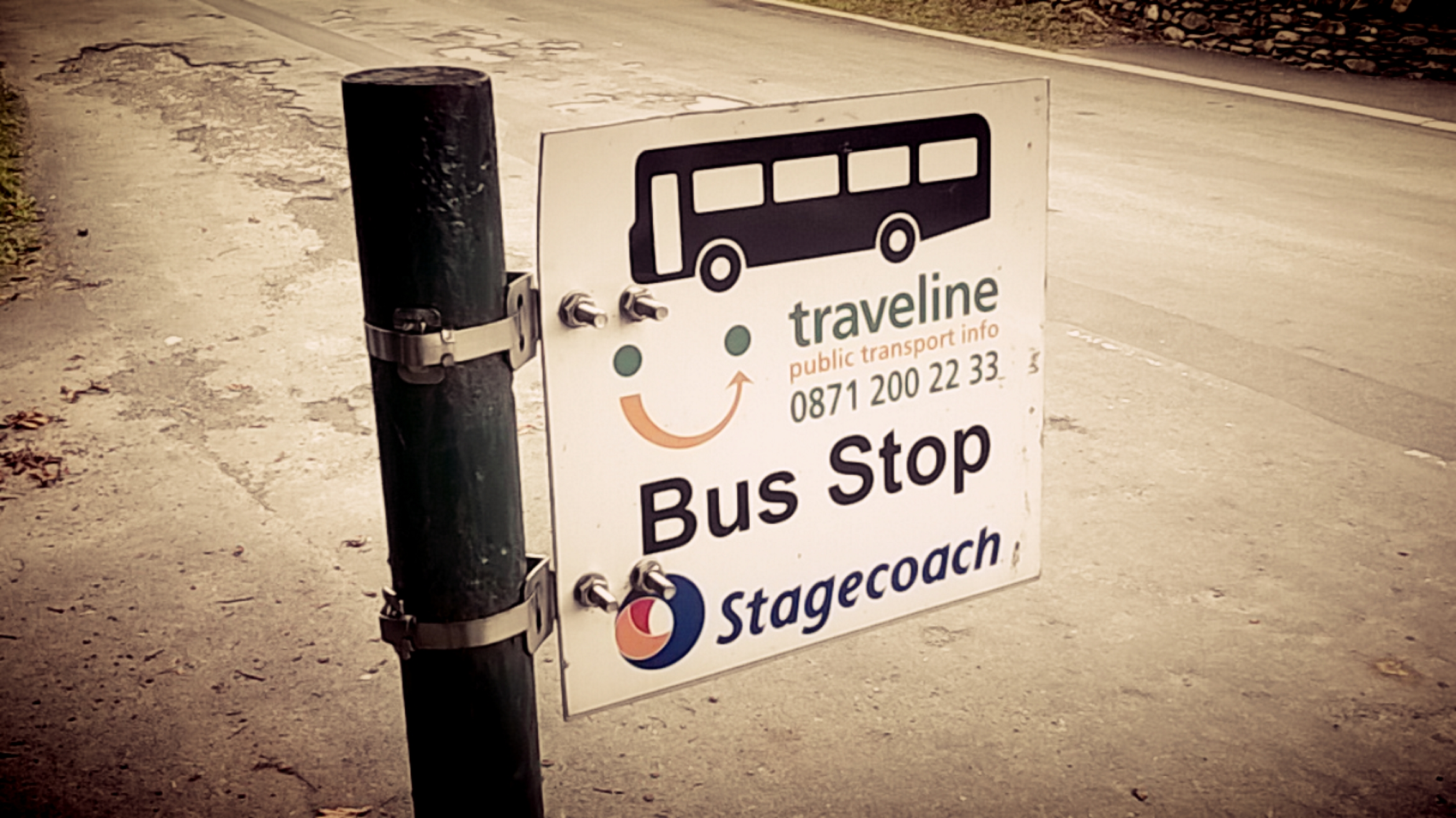 close of bus stop